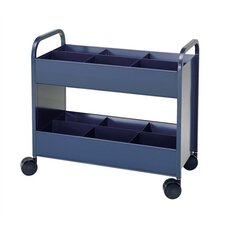 Utility Cart 2 Shelves with 6 Bins