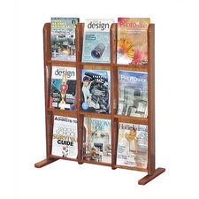 <strong>Virco</strong> Wooden Literature Display, 9 Pockets
