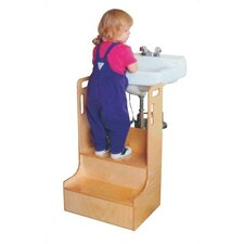 2-Step Children's Step-up-n-wash Step Stool