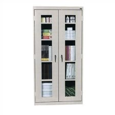 View-Through Storage Cabinet with 4 Adjustable Shelves