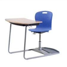 "Sage Series Ergo Combo 37.5"" Plastic Student Desk"