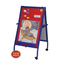 Magnetic Flannel Easel with Steel Frame