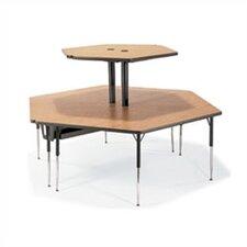 "Plateau Series 96"" x 84"" Hexagon Classroom Table"