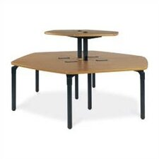 "Single Technology Table (42"" x 96"") with Top Shelf"