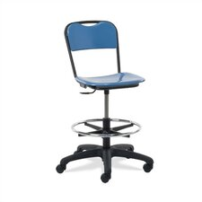Height Adjustable Lab Stool with Casters