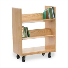 <strong>Virco</strong> Library Book Cart with 4 Sloping Shelves