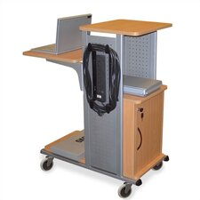 Mobile Presentation Station with Wood Surfaces