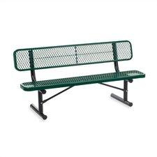 Outdoor Metal and Plastic Garden Bench