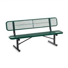 Outdoor Metal and Plastic Garden Bench