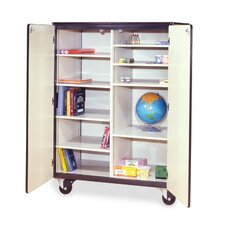 "66"" H Mobile Storage Cabinet with 8 Adjustable Shelves"