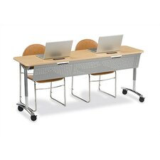 "<strong>Virco</strong> Text Series 33"" Desk with Storage"