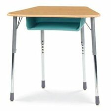 Zuma Plastic Trapezoid Desk with Plastic Book Box