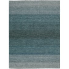 White Label Linear Glow Aqua Loomed Rug