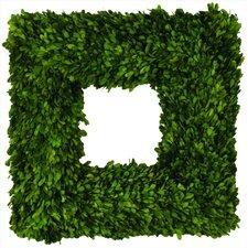 Boxwood Square Wreath