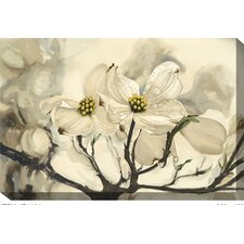 Dogwood Painting Print on Canvas