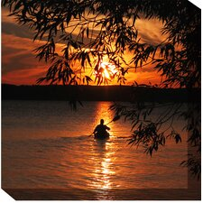 Kayak Sunset Outdoor Canvas Art