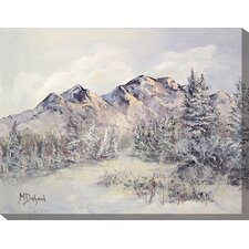 Paradise Peaks Painting Print on Canvas