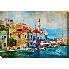 Pretty Port Painting Print on Canvas