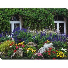 <strong>West of the Wind Outdoor Canvas Art</strong> Summer Garden Art Painting