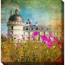 Chateau and Cosmos Photographic Print on Canvas
