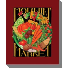 Morning Market Graphic Art on Canvas