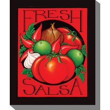 Salsa Graphic Art on Canvas