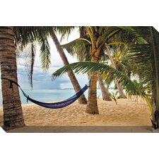 Blue Hammock Photographic Print on Canvas