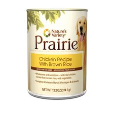 Prairie Chicken Recipe with Brown Rice Canned Dog Food (13.2-oz, case of 12)