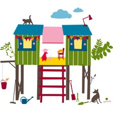 24 Piece Treehouse Wall Decal Set