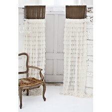 Chichi and Velvet Header Curtain Single Panel