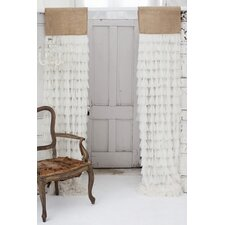 Chichi and Jute Header Curtain Single Panel