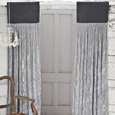 <strong>Couture Dreams</strong> Luscious Silk Velvet Rod Pocket Curtain Single Panel