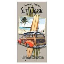 Surf Classic Longboard Beach Towel