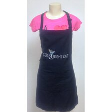 Girls Night Out Rhinestone Printed Apron
