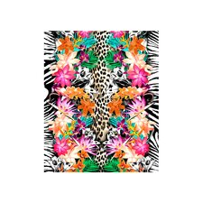 Animal and Flower Print Beach Towel