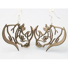 Rhino Profile Earrings