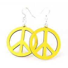 Small Peace Signs Earrings