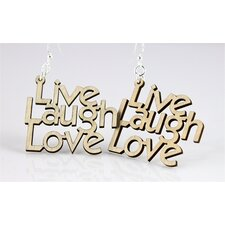 Live, Laugh, Love Earrings