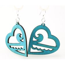 Ocean Heart Earrings