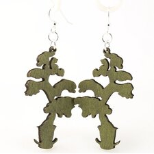 <strong>Green Tree Jewelry</strong> Elongated Bonzai Earrings