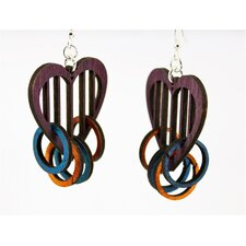 Heart with Rings Earrings