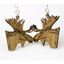 <strong>Green Tree Jewelry</strong> Moose Earrings