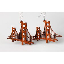 <strong>Green Tree Jewelry</strong> Golden Gate Bridge Earrings