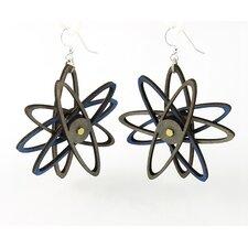 3D Atom Drop Earrings