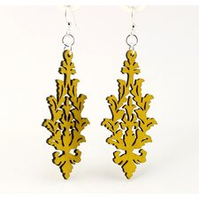 <strong>Green Tree Jewelry</strong> Leaf Cluster Earrings