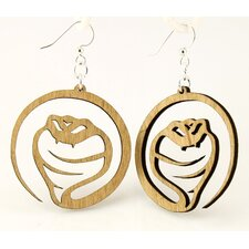 <strong>Green Tree Jewelry</strong> Cobra Snake Earrings