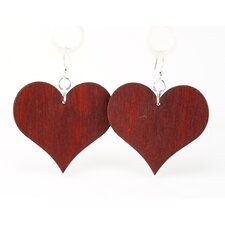 Large Solid Hearts Earrings