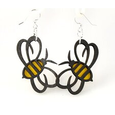 <strong>Green Tree Jewelry</strong> Bumble Bees Earrings