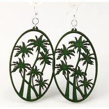 <strong>Green Tree Jewelry</strong> Palm Trees Earrings