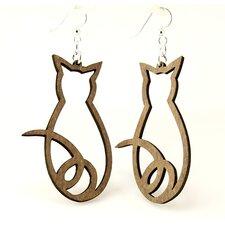 Cat Outline Earrings